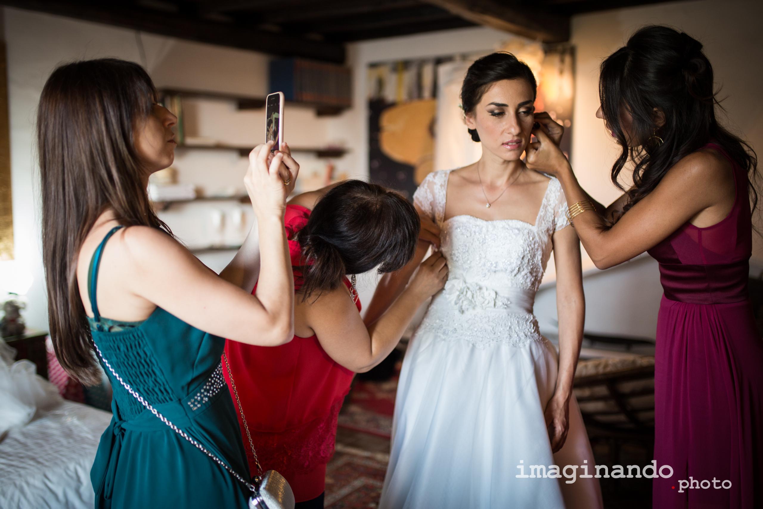 Fotografo Matrimonio Roma - Foto Servizio Fotografico Matrimoniale - Preparazione